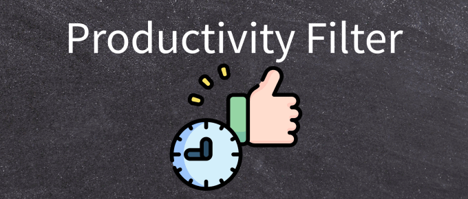 Productivity Filter